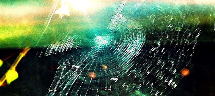 Photo of a spider web
