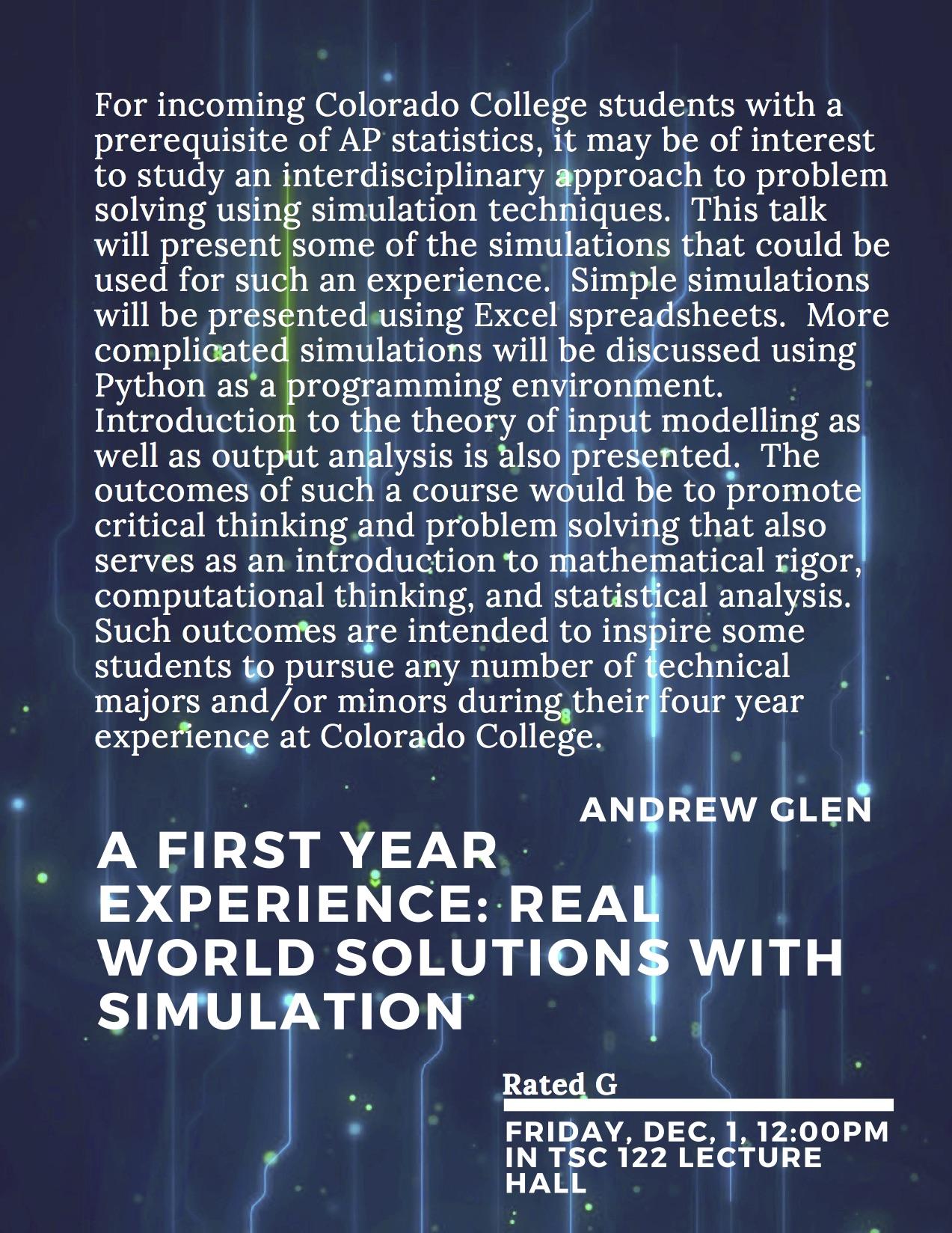Seminar Archive • Mathematics & Computer Science Colorado College