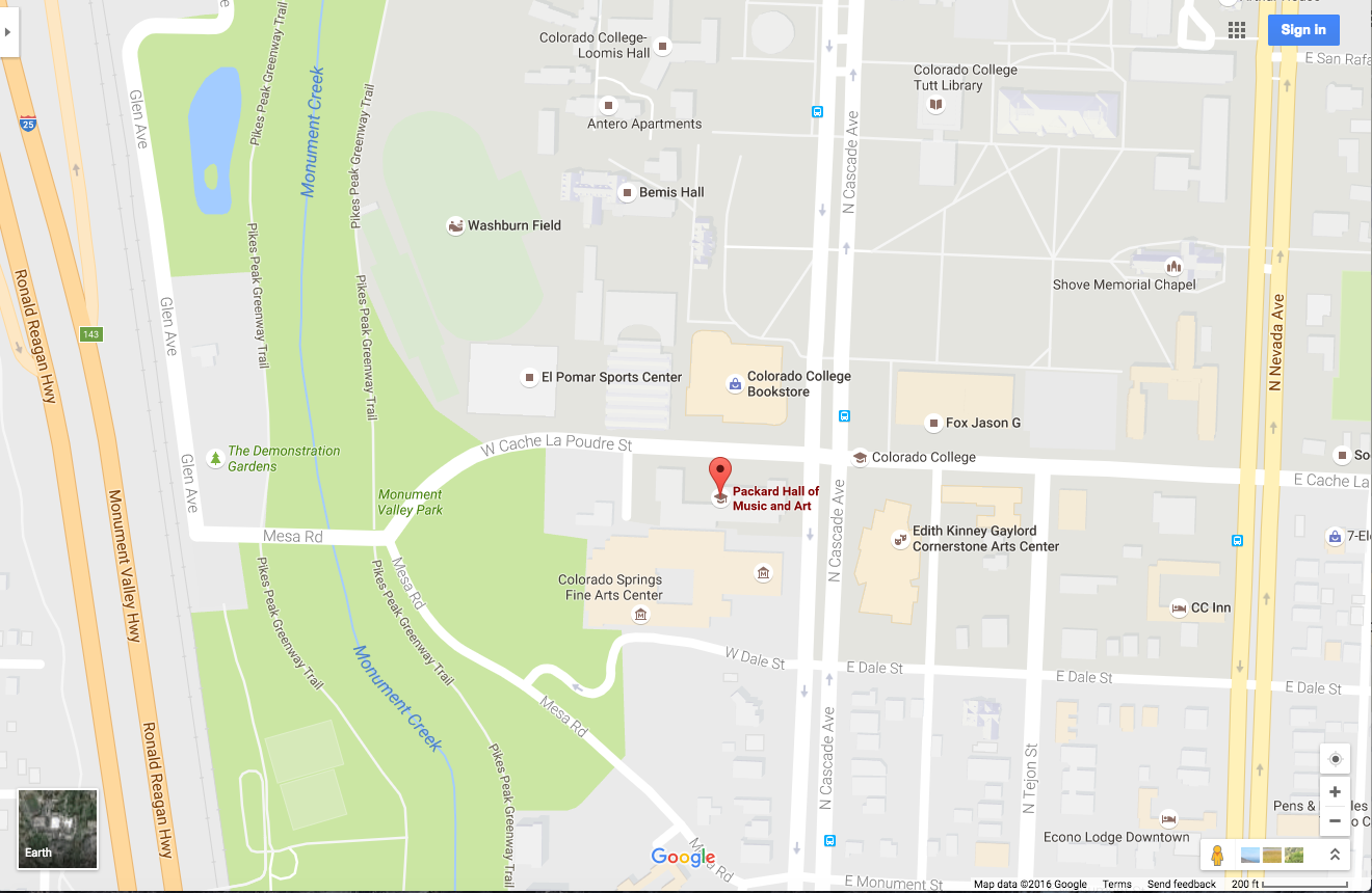 How to Get to Packard Hall • Music Colorado College