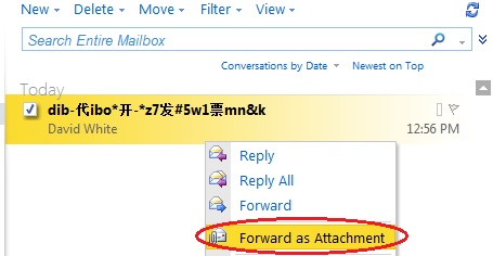 owa forward attachment