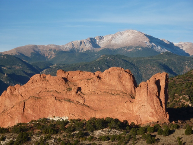 Fall Garden of the Gods and Pikes Peak