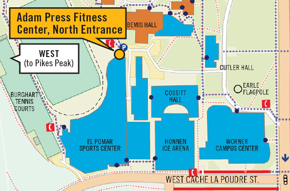 Map of north entrance.