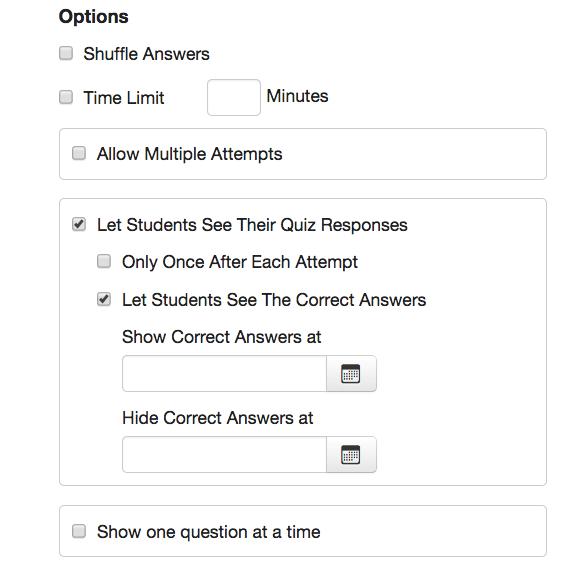 Quizzes • Colorado College