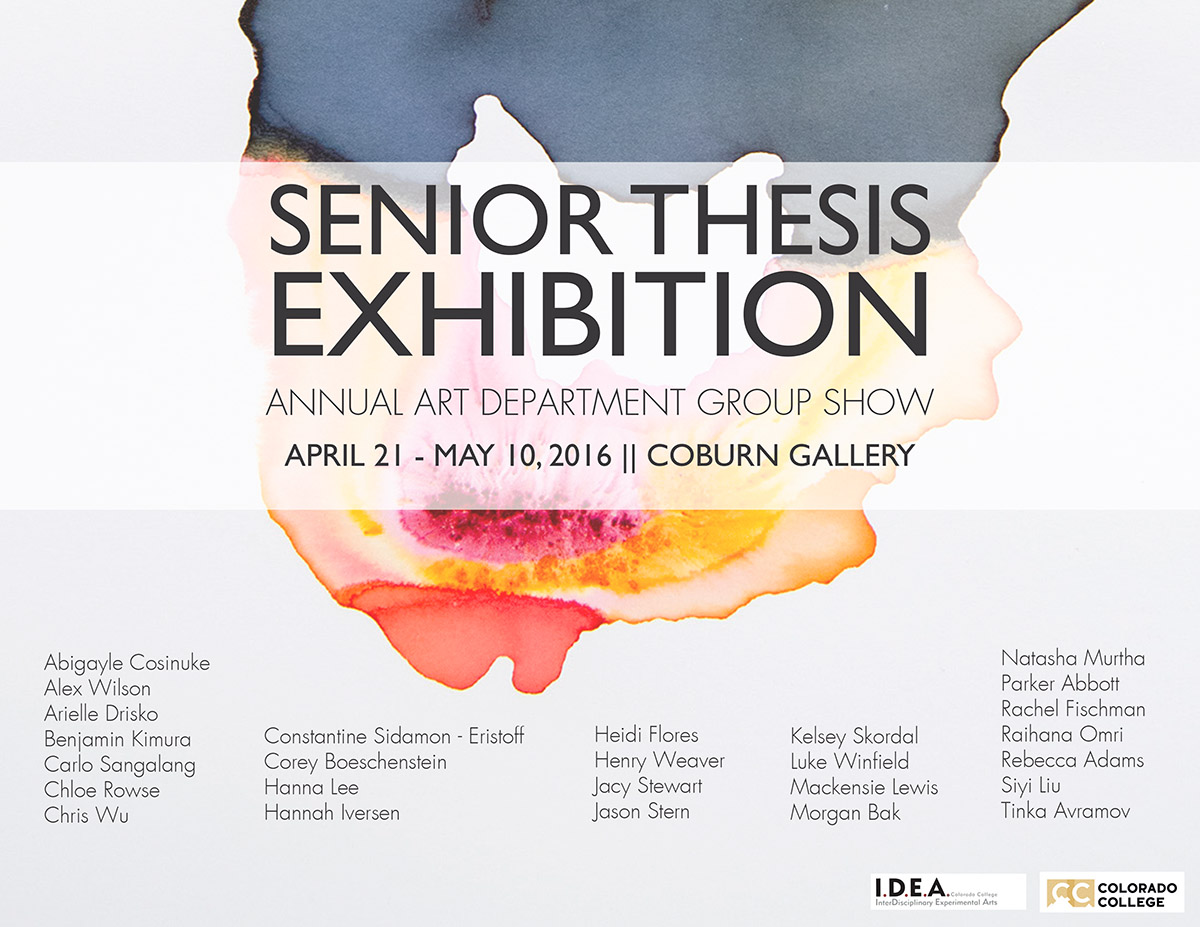 Senior Art Majors Poster