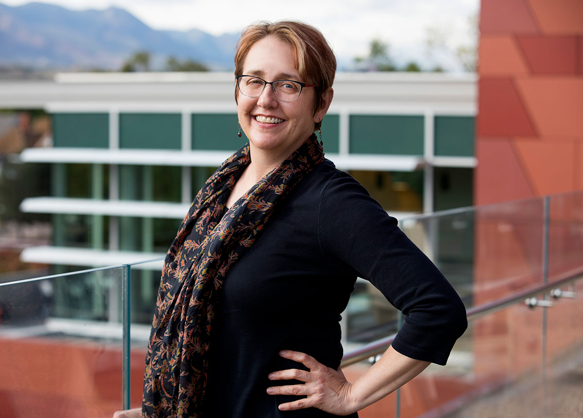 Library director JoAnn Jacoby
