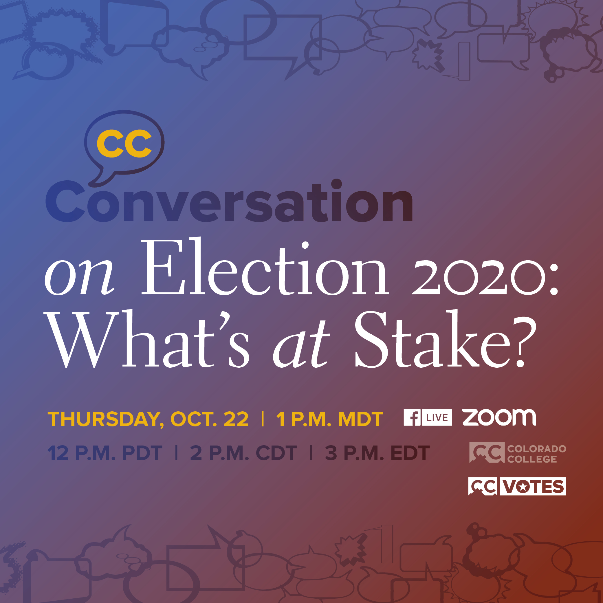 Next CC Conversation: Election 2020: What's at Stake?