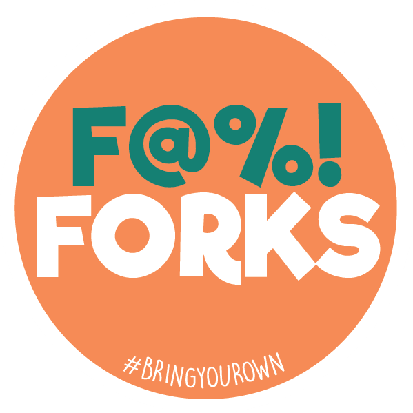F Forks Sticker