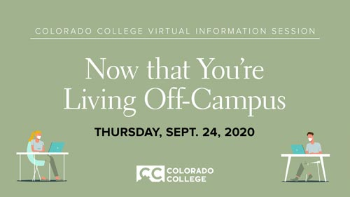 Now That You're Living Off-campus