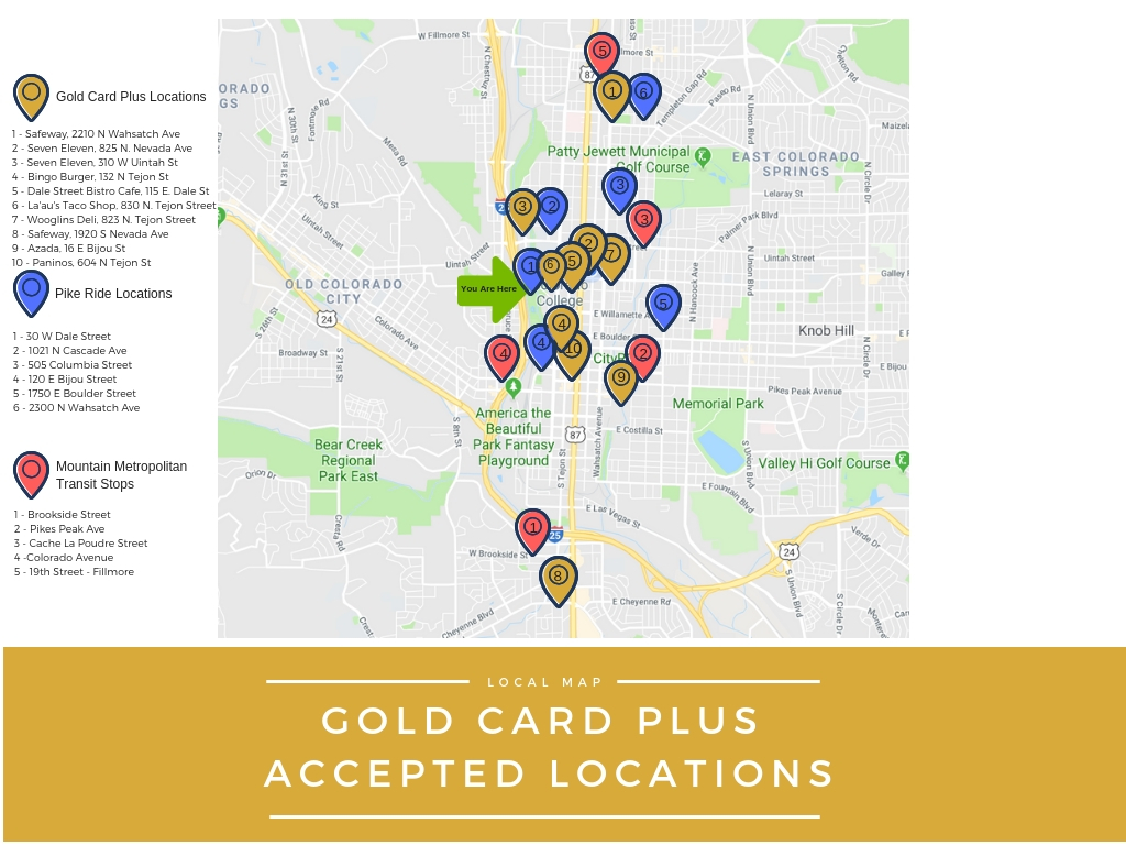 Gold Card plus locations